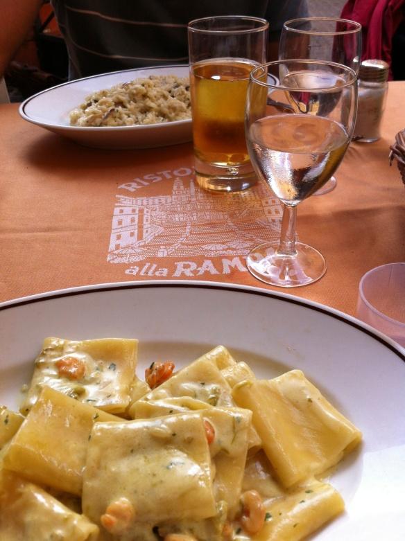 A delightful lunch at Alla Rampa in Piazza di Spagna