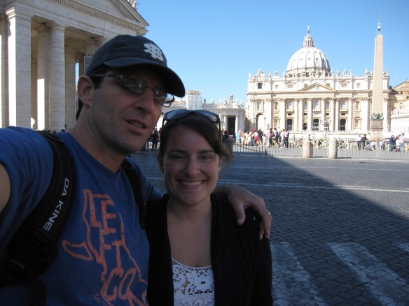 St. Peter's Square at Vatican City where St. Peter himself was martyred under the emperor Nero.