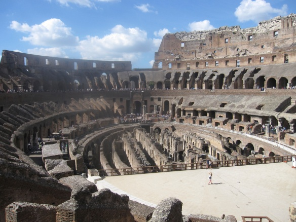 The Colosseum was built in the 89's CE under the Flavian emperors. It later became a memorial to Christian martyrs.