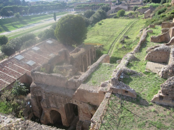 The Palatino; one of the emperor's had built across the way from Circo Massimo, so he could watch the games and chariot races from his abode.