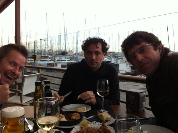 From left to right: Bro Ken, Bro-in-law Daniel, Hubbie Leo at Pesquero resto in Palma