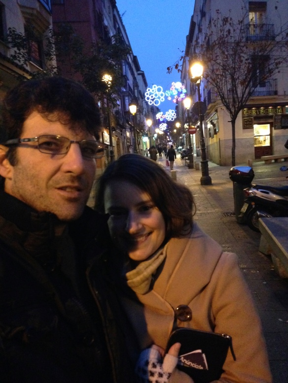 Walking off dinner around Calle Huertas in Old Madrid