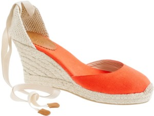 Ah, espadrilles. A classic summer wardrobe accessory for your feet. Whether loafers, sandals, platforms or flats, these beauties, also made for both men and women, originated in Mallorca apparently. These are from JCREW, but you can get them here for about 20 euros or less. Jealous?