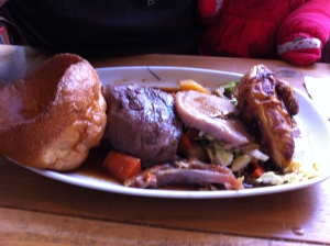 Break from touristy things for a nice, Sunday Roast at a pub in Noting Hill